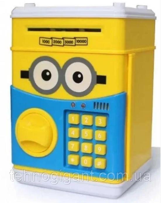 Дитячий сейф скарбничка Міньйон з кодом скарбничка для грошей дитяча музична Сейф банкомат Міньйон