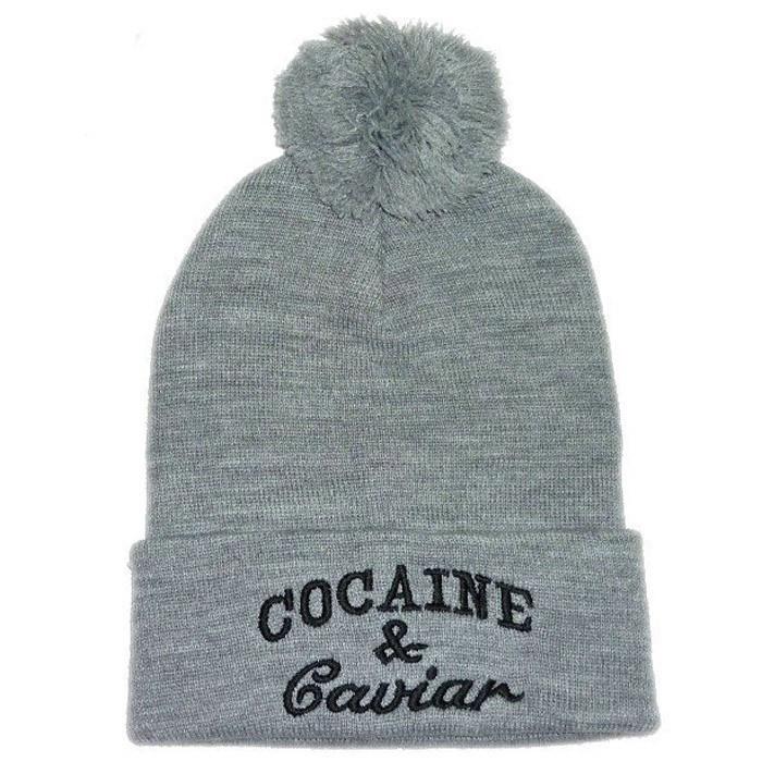 Модная шапка Cocaine с пумпоном