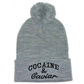Шапка модна Cocaine з пумпоном