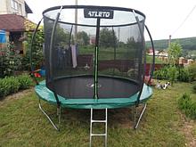 Детский батут 183 см для детей с внутренней защитной сеткой садовий для дома, Спортивные батуты