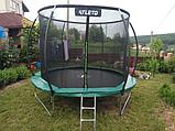 Детский батут Atleto 252 см  с внутренней защитной сеткой садовий для дома, Спортивные батуты, фото 4