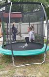 Детский батут Atleto 252 см  с внутренней защитной сеткой садовий для дома, Спортивные батуты, фото 3