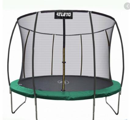 Детский батут Atleto 252 см  с внутренней защитной сеткой садовий для дома, Спортивные батуты