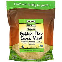 """Золотые семена льна NOW Foods, Real Food """"Golden Flax Seed Meal"""" органические, молотые (624 г)"""