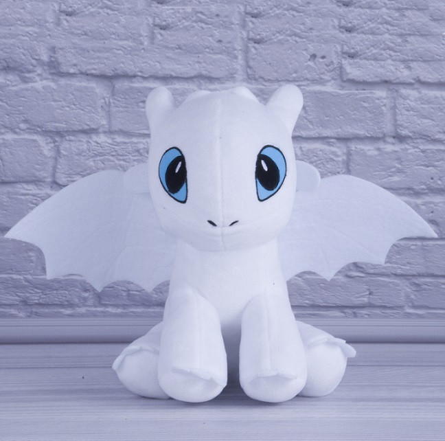 М'яка іграшка дракон фурія біла арт.00688-2