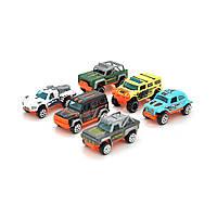 Набор детских машинок Wind Fire Racing car, в наборе 6 машинок, mixcolor