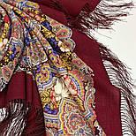 Время песен 1922-15, павлопосадский платок из шерсти с шелковой бахромой, фото 7
