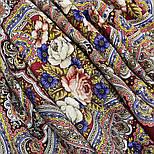 Время песен 1922-6, павлопосадский платок из шерсти с шелковой бахромой, фото 8