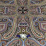 Время песен 1922-6, павлопосадский платок из шерсти с шелковой бахромой, фото 4