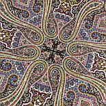 Время песен 1922-15, павлопосадский платок из шерсти с шелковой бахромой, фото 5