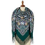Время песен 1922-15, павлопосадский платок из шерсти с шелковой бахромой, фото 2