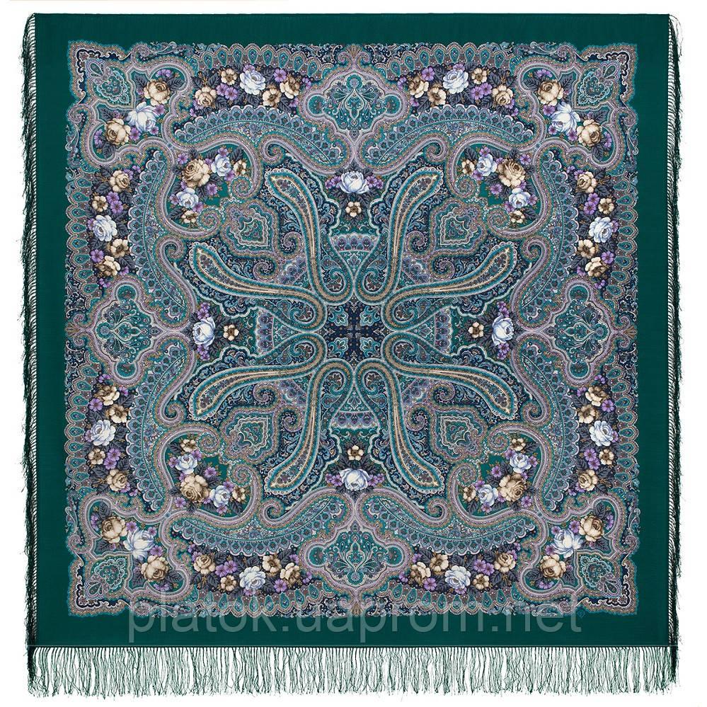 Время песен 1922-15, павлопосадский платок из шерсти с шелковой бахромой