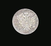 Рубль 1762 года Петр 3 СПБ №046а копия
