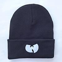 Стильная шапка зима черная