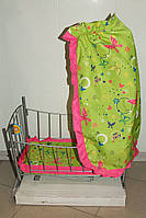 Кроватка-качалка для куклы с балдахином .