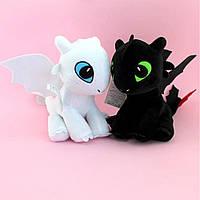 Мягкие игрушки Дракон фурия черная Дракон фурия белая