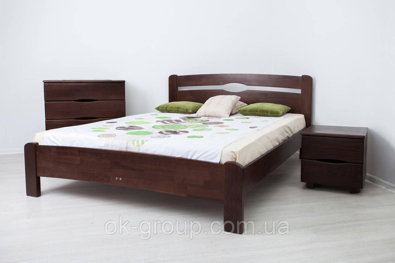 Кровать двуспальная Каролина без изножья 1400*2000(Бук щит)