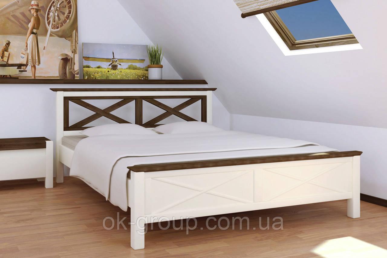 Кровать деревянная двуспальная Нормандия 1600 Микс мебель