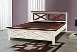 Кровать деревянная двуспальная Нормандия 1400 Микс мебель, фото 2
