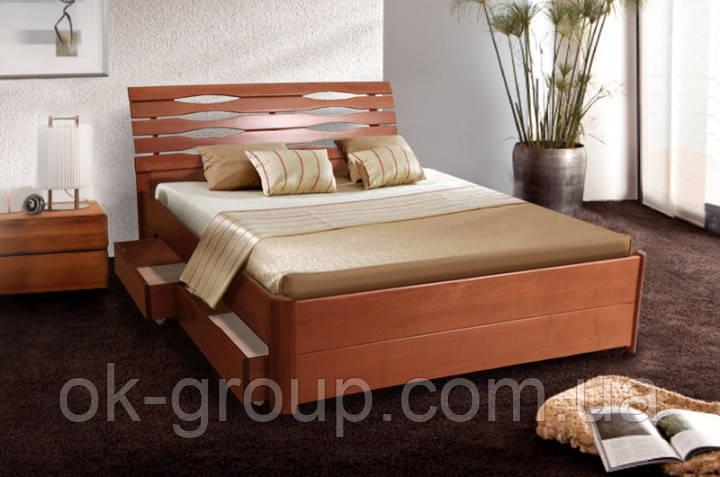Кровать двуспальная Мария Люкс с ящиками 160*200