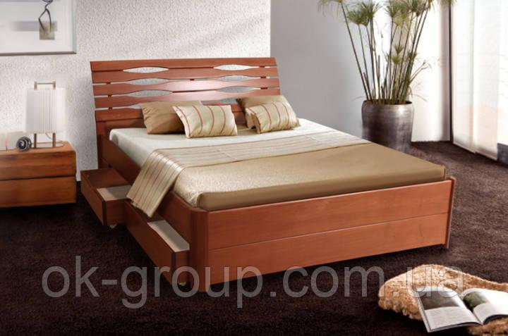 Кровать двуспальная Мария Люкс с ящиками 180*200