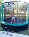Детский батут Atleto 312 см для взрослых и детей с внутренней защитной сеткой садовий для дома и дачи, фото 3