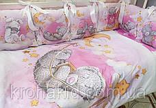 """Набір постільної білизни в дитячу ліжечко/ манеж """"Коса"""" - Бортики / Захист в ліжечко, фото 2"""