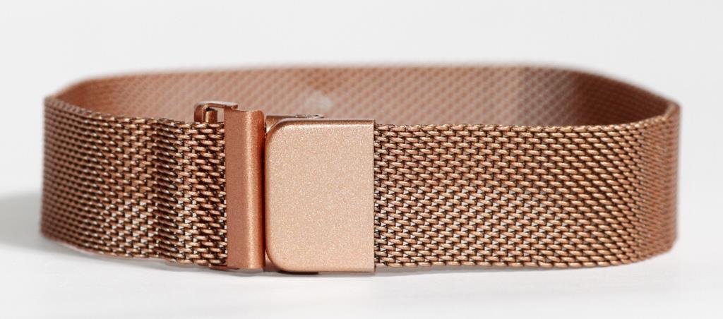 Браслет сетка для часов на магнитной застежке. Миланское Плетение,18 мм. Золото