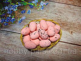 Великодній декор, яйця перепелині 3 см, (пінопластові), колір РОЖЕВИЙ, 5 шт