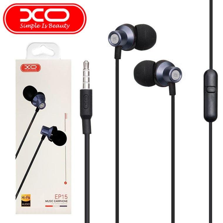Наушники проводные XO EP15 с микрофоном и кнопкой приема вызова