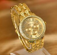 Женские наручные часы Geneva Diamond/желтое золото