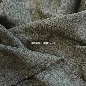 Костюмна тканина габардин льон темно-бежевий