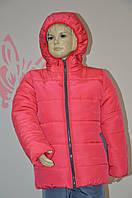 Зимняя курточка для девочки кораллового цвета, фото 1