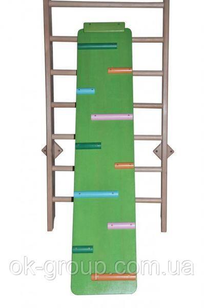Доска цветная двухсторонняя из масива сосны 160см: гладкая и ребристая