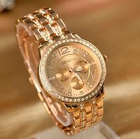 Женские наручные часы Geneva Diamond/красное золото