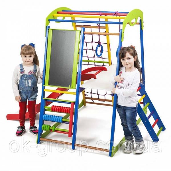 Детская Шведская стенка для дома SportWood Plus 3 ( спортивний куточок )