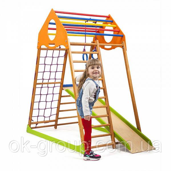 Детская Шведская стенка для дома KindWood ( спортивний куточок )