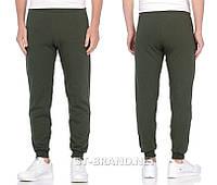 Мужские спортивные штаны на манжете ТМ «Fazor», Узбекистан / Размеры: 46-54 / Трикотаж двунитка - хаки