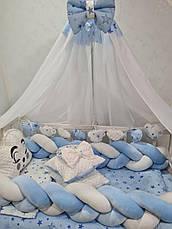 """Набір постільної білизни в дитячу ліжечко/ манеж """"Коса"""" - Бортики / Захист в ліжечко, фото 3"""