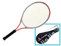 Алюминиевая теннисная ракетка для большого тенниса в чехле для детей и взрослых