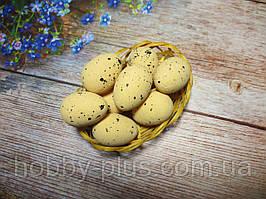 Великодній декор, яйця перепелині 3,5 см, (пінопластові), колір БЕЖЕВИЙ, 1 шт