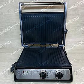 Гриль прижимной 2000W c терморегулятором Crownberg