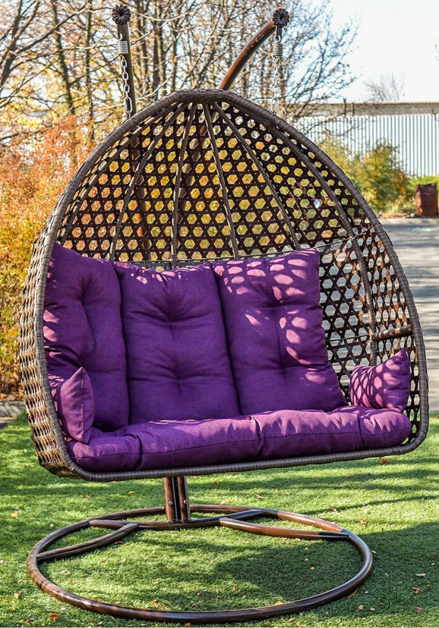 Двомісне підвісне крісло зі стійкою Дабл Нью Преміум