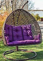 Двомісне підвісне крісло зі стійкою Дабл Нью Преміум, фото 1