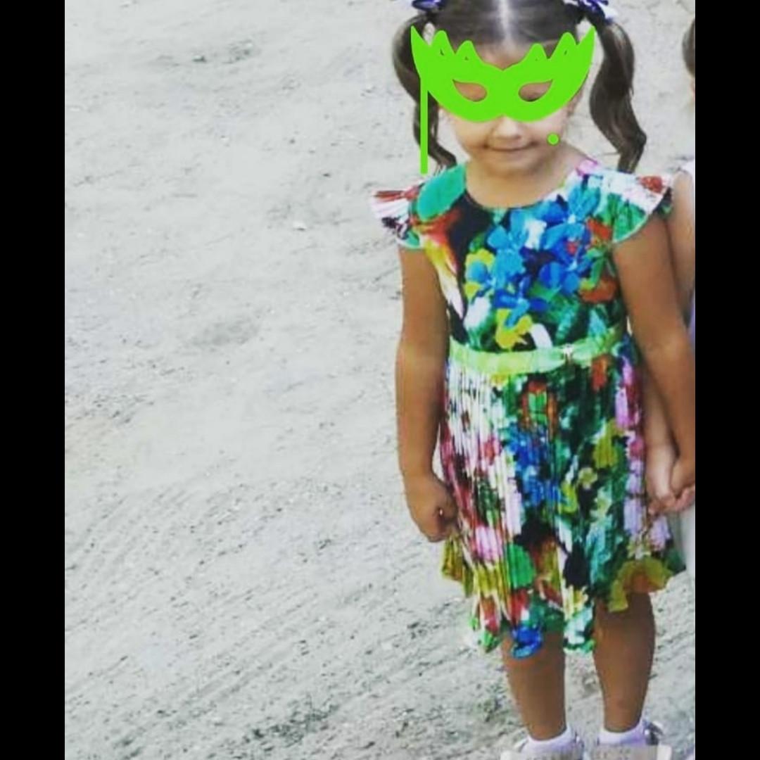 Плиссированное платье Алина для маленькой девочки