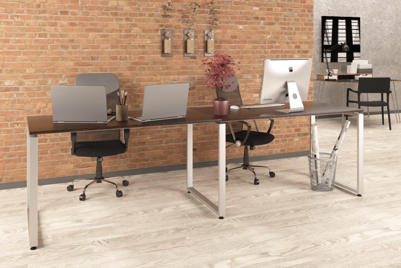 Письменный стол двойной без царги Loft Design Q-135-2 Венге Корсика