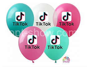 """Латексные шары с рисунком """"Tik-Tok"""" 12'' (100 ШТ) ТМ SHOW (30 СМ)"""