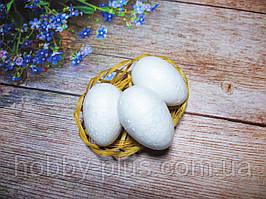 Великодній декор, яйця 6 см, (пінопластові), колір білий, 1 шт