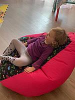 Кресло мешок Exclusive, кресло Груша, бескаркасный пуф, бескаркасная мебель .Мягкий Пуф Принт Оксфорд-детский