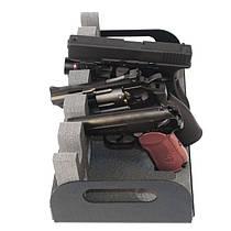 Подставка для пистолета и автомата (пластик + пена)